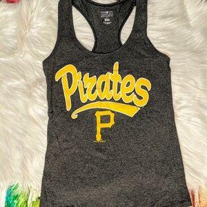 Pittsburgh pirates women's small dark grey tank